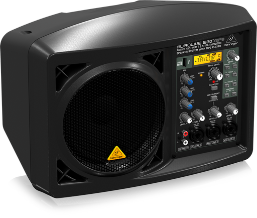 "Behringer Eurolive B207MP3 Ultra Compact Active 150W, 6.5"" Multi-purpose PA Speaker System"