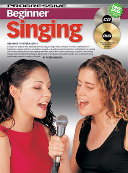 Progressive Beginner Singing Book with CD & DVD