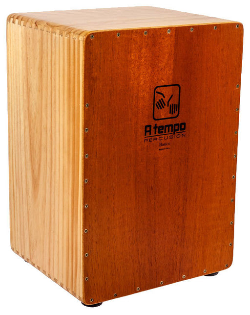 A Tempo Percussion Basic Flamenco Cajon in Natural Satin Finish