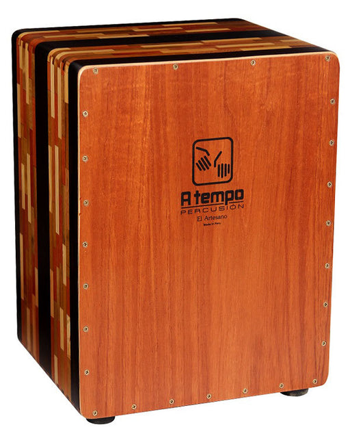 A Tempo Percussion El Artesano Cajon in Natural Gloss Finish