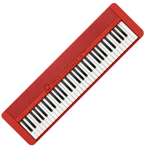 Casiotone CTS1 61 Key Keyboard Red