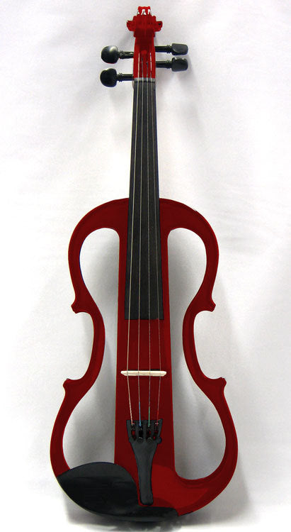 Carlo Giordano 4/4 Size Electric Violin Outfit EV302 Red