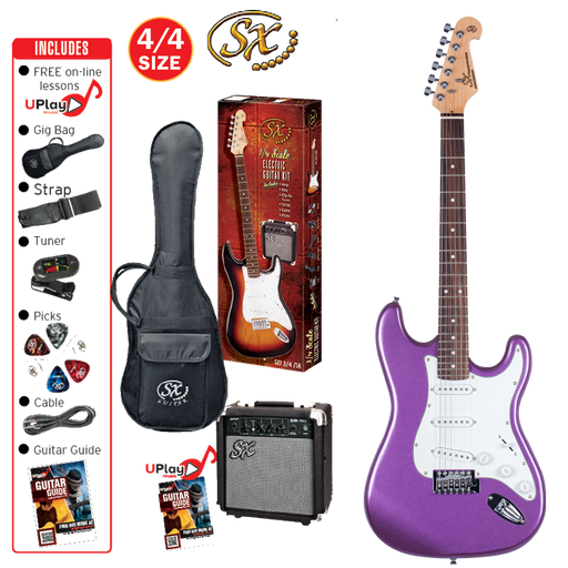 SX Beginner Electric Guitar and Amp Package