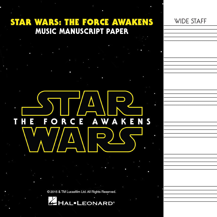 Music Manuscript Book with Wide Staves - Star Wars