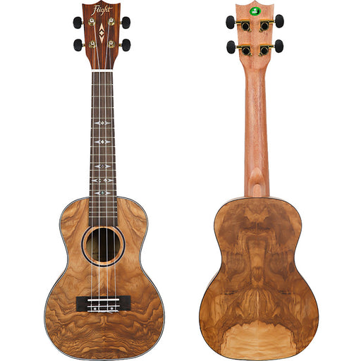 Flight Concert Ukulele Quilted Ash DUC410
