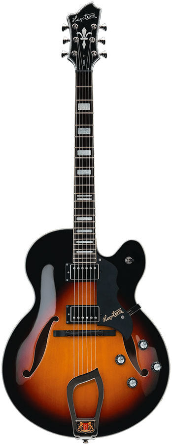 Hagstrom HJ800 Hollow Body Guitar in 3 Tone Sunburst