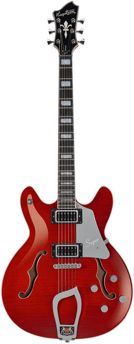 Hagstrom Super Viking Semi-Hollow Guitar in Wild Cherry Transparent Gloss