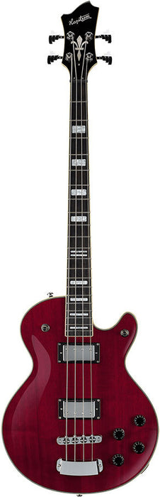 Hagstrom Swede Bass Guitar in Wild Cherry Transparent Gloss