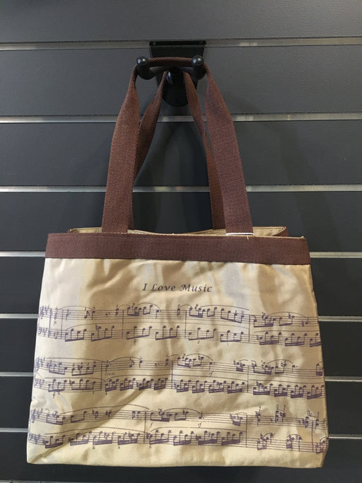 Copper Coloured Notation Tote Bag