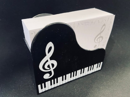 Note Pad with Grand Piano Design Holder