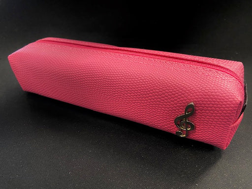 Slim Pencil Bag Case with Treble Clef