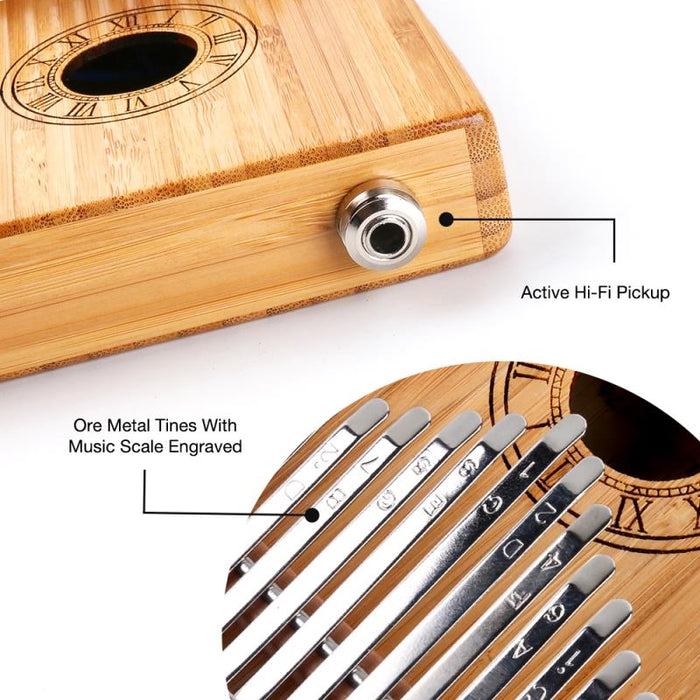 Percussion 17-Key Bamboo Kalimba with Electric