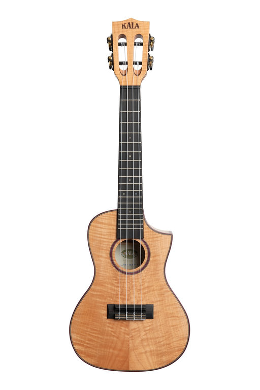 Kala Concert Ukulele Hawaiian Flamed Maple with cutaway