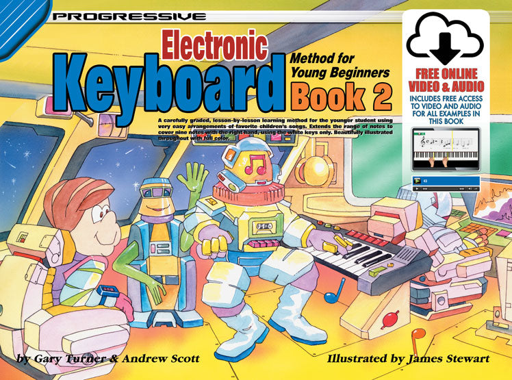 Progressive Young Beginner Keyboard Book w/ Online Media
