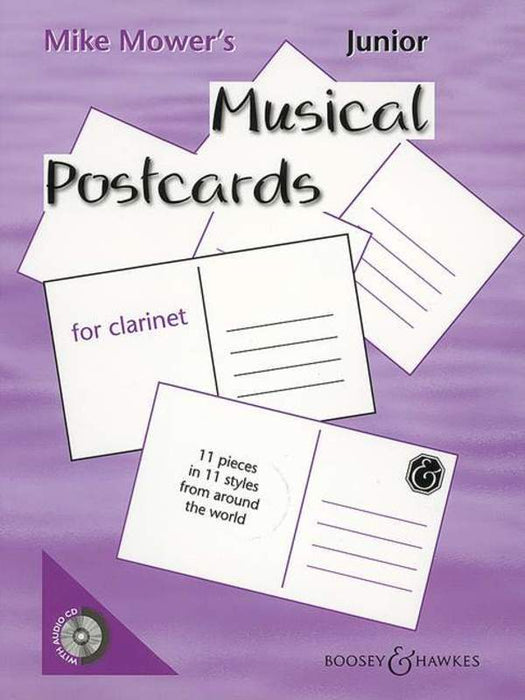 Junior Musical Postcards for Clarinet Book / CD
