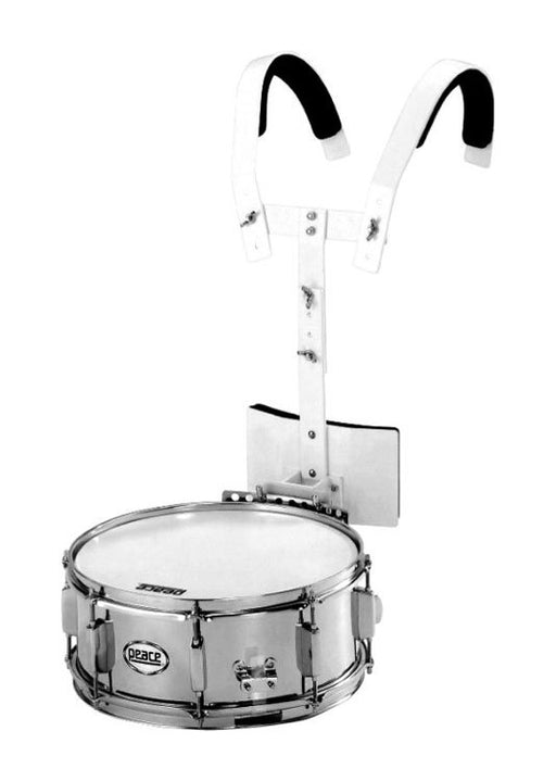 "Peace Metal Marching Snare Drum with Marching Carrier (14 x 5.5"")"