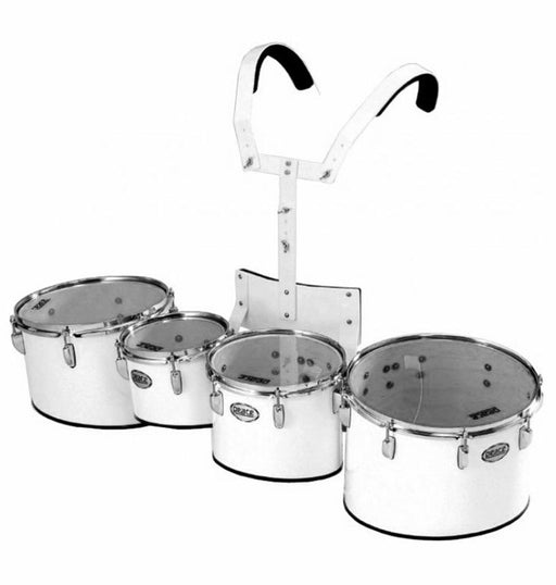 Peace Marching Drum Quad Set with Carrier