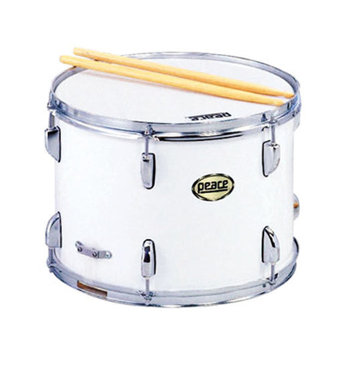 "Peace 12 Lug Marching Snare Drum in White (14 x 10"")"