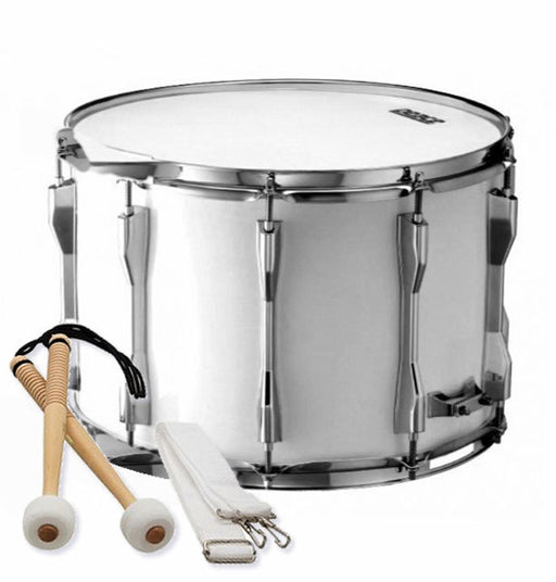 "Peace Deluxe 8-Lug Marching Tenor Drum in White (14 x 10"")"