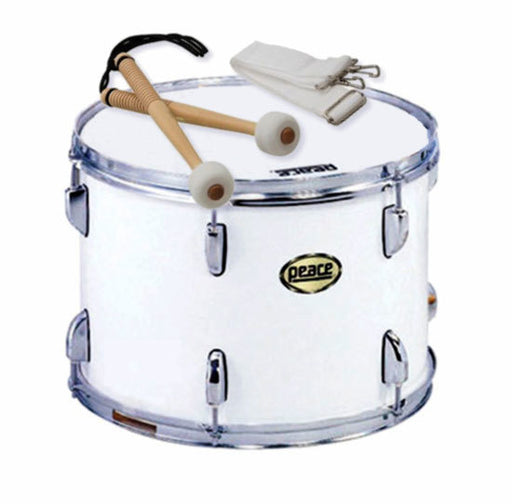"Peace 12-Lug Marching Tenor Drum in White (14 x 10"")"