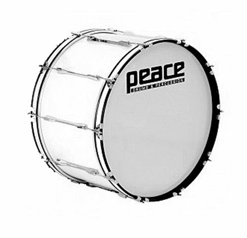 "Peace 10-Lug Marching Bass Drum in White (22 x 10"")"
