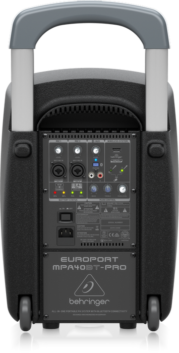 Behringer Europort MPA40BTPRO All-in-One Portable 40W PA System