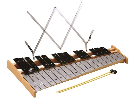 Opus Percussion 32-Note Glockenspiel with Sheet Music Holder & Beaters