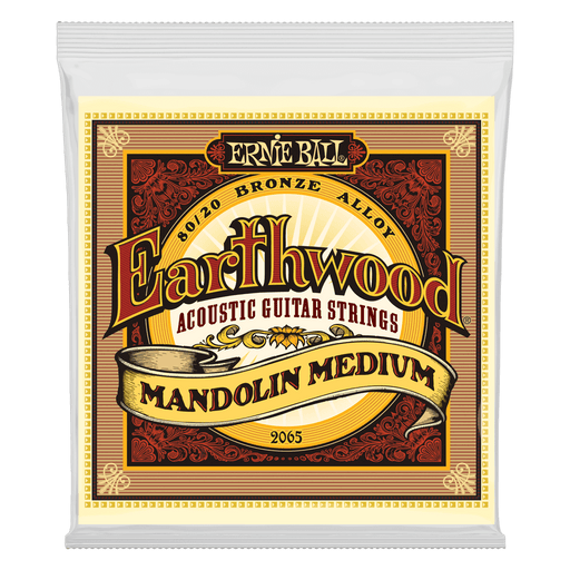 Ernie Ball Earthwood Mandolin Medium Loop End 80/20 Bronze Acoustic Guitar Strings - 10-36