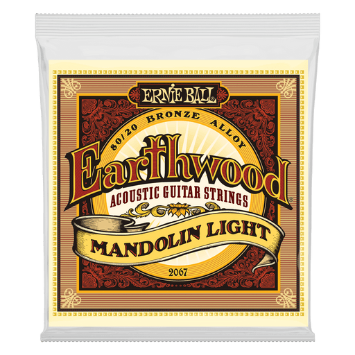 Ernie Ball Earthwood Mandolin Light Loop End 80/20 Bronze Acoustic Guitar Strings - 9-34