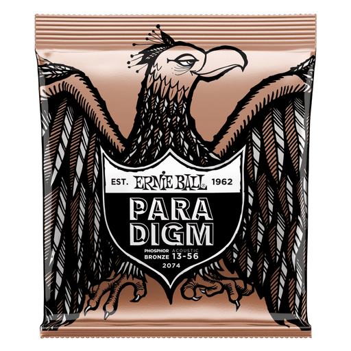 Ernie Ball Paradigm Medium Phosphor Bronze Acoustic Guitar Strings - 13-56