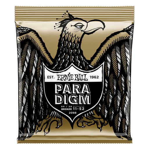 Ernie Ball Paradigm Light 80/20 Bronze Acoustic Guitar Strings - 11-52