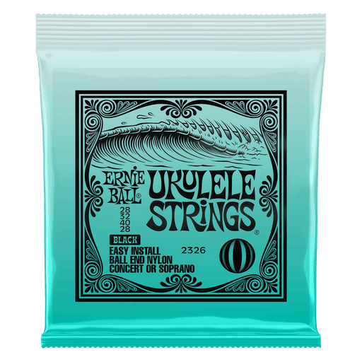 Ernie Ball Ukulele Ball End Nylon Strings Black