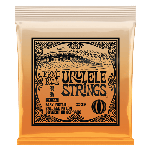 Ernie Ball Ukulele Ball End Nylon Strings Clear