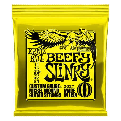 Ernie Ball Beefy Slinky Nickel Wound Electric Guitar Strings - 11-54