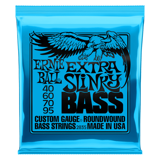 Ernie Ball Extra Slinky Nickel Wound Electric Bass Strings - 40-95