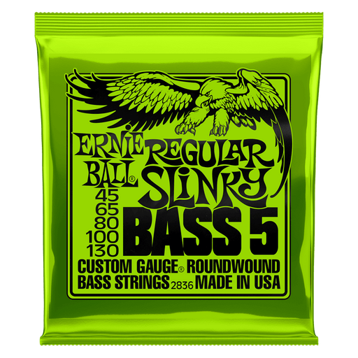Ernie Ball Regular Slinky 5-String Nickel Wound Electric Bass Strings - 45-130