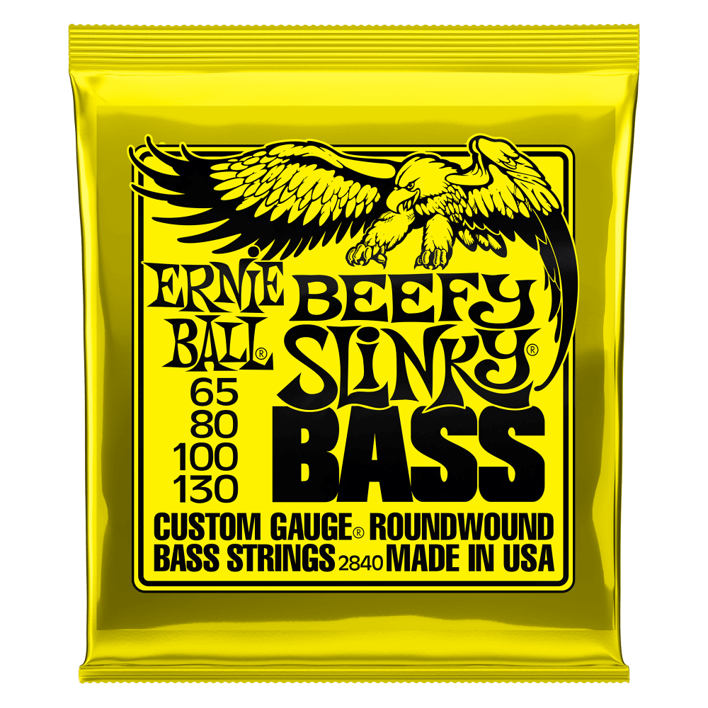 Ernie Ball Beefy Slinky Nickel Wound Electric Bass Strings - 65-130