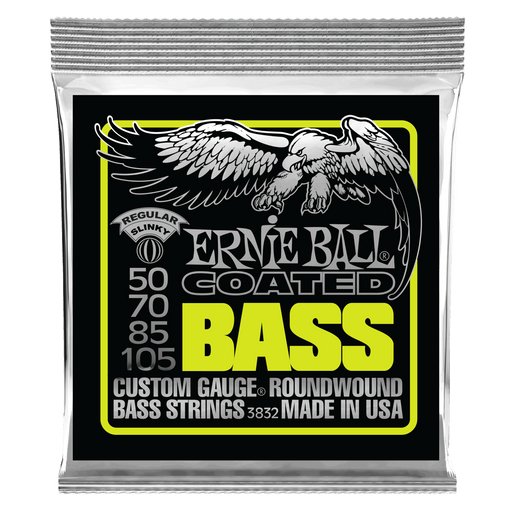 Ernie Ball Regular Slinky Coated Electric Bass Strings - 50-105