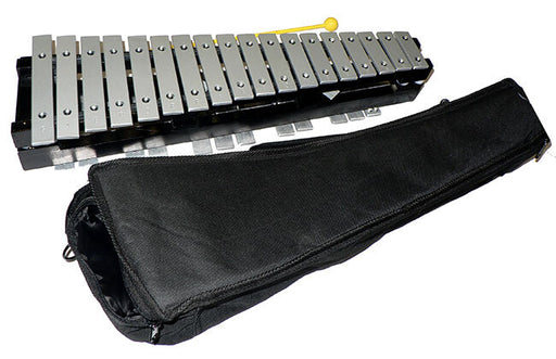 Percussion Plus PP4030 30 Note Glockenspiel with Black Wood Folding Frame & Bag