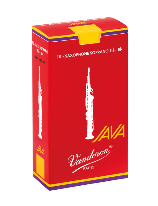 Vandoren Java Red Soprano Saxophone Reeds Box of 10