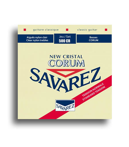 Savarez New Cristal Corum Normal Tension Classical Guitar String Set SAV500CR
