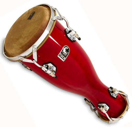 Toca Medium Bata Drum Omele in Bright Red Lacquer Finish