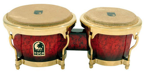 "Toca LE Series 7 & 8-1/2"" Wooden Bongos in Bordeaux"