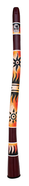 "Toca Freestyle Curved Didgeridoo 50"" Tribal Sun Design"
