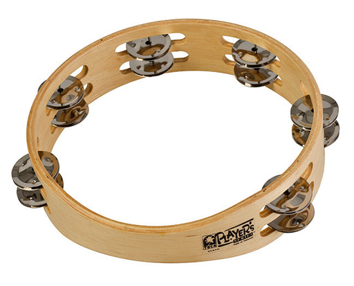 "Toca Players Series 9"" Wooden Tambourine with Double Row Of Jingles"