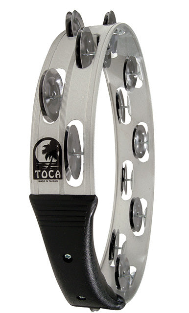 "Toca Players Series 10"" Headless Aluminium Tambourine with Double Nickel Plated Jingles"