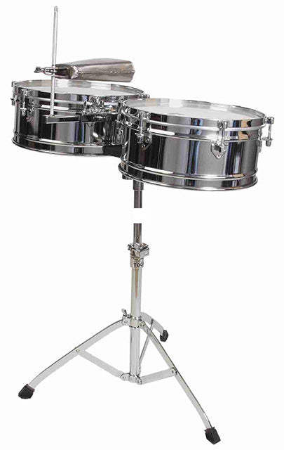 "Toca Elite Series Timbale Set 14 & 15"" in Chrome"