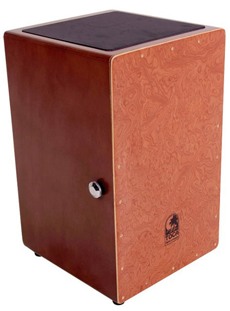 Toca Wooden Cajon in Burl Oak with Internal Wire Snares