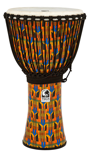 Toca Freestyle 2 Series Djembe 14 Inch Kente Cloth with Bag
