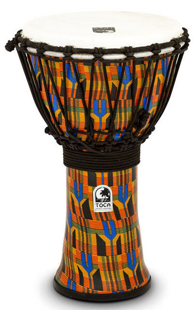 Toca Freestyle 2 Series Djembe 9 Inch Kente Cloth